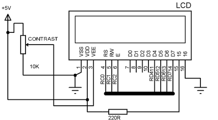 LCD Display circuit