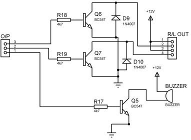 Relay and buzzer Circuit